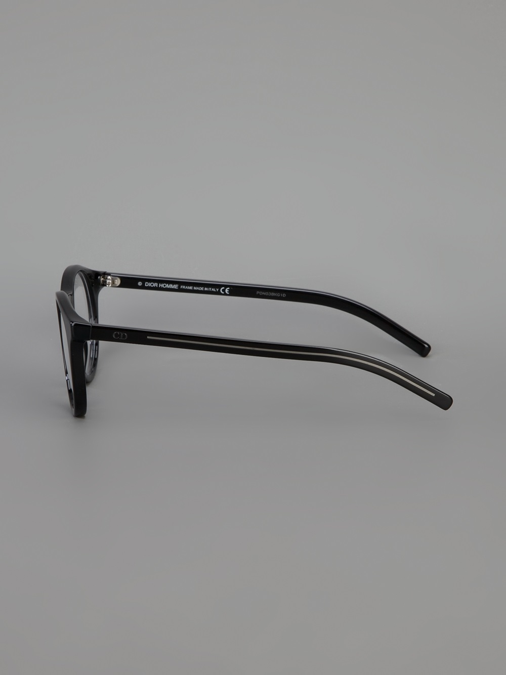 Dior homme Round Frame Glasses in Black for Men Lyst
