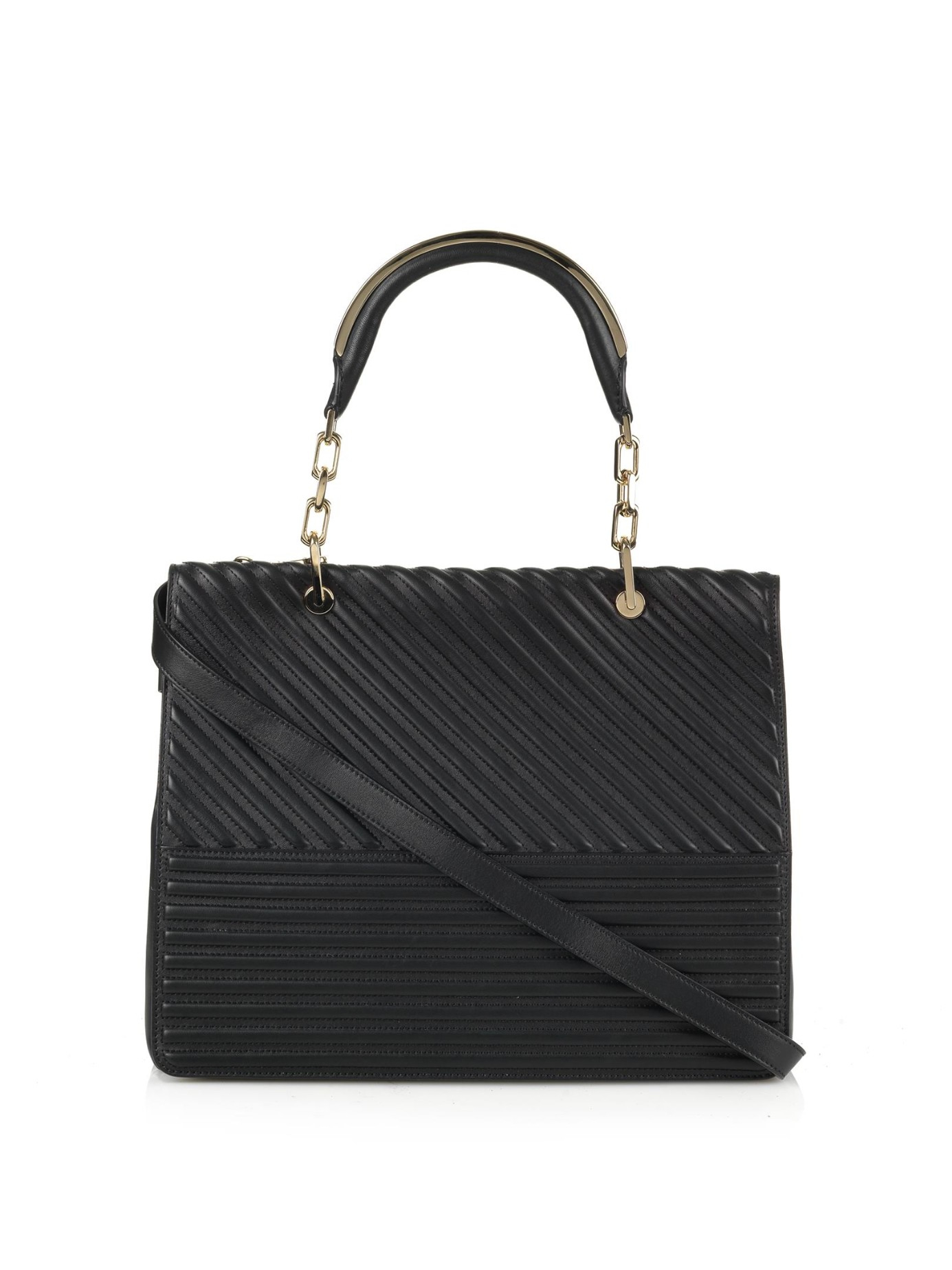 Max Mara Venezia Quilted Leather Tote In Black Lyst