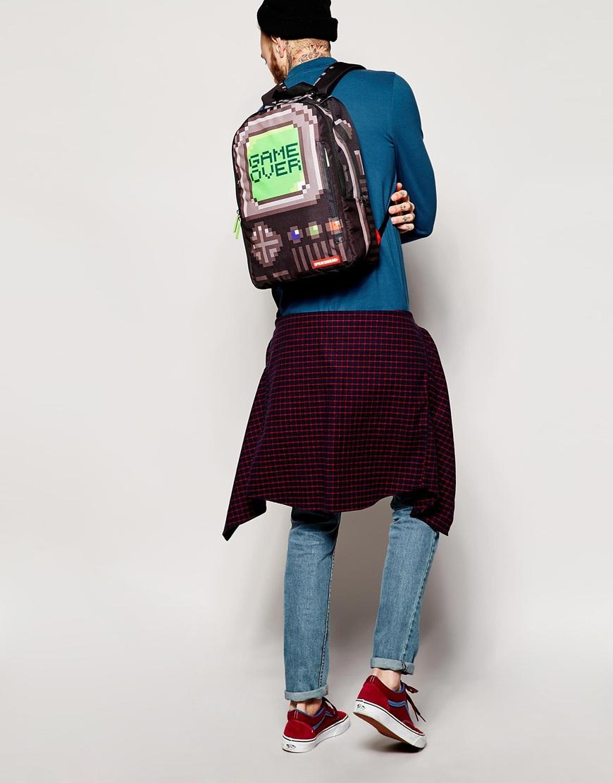 314144b509 Lyst - Sprayground Backpack Pixel Game Over in Black for Men
