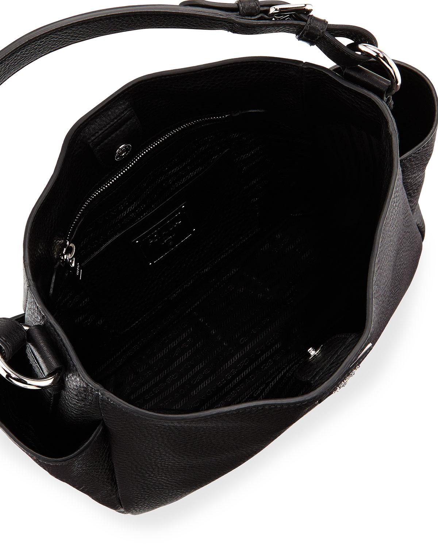a12d4bb002 Lyst - Prada Vitello Daino Single Strap Tote Bag in Black