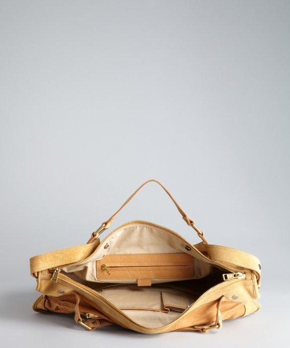 celine brown leather handbag hobo