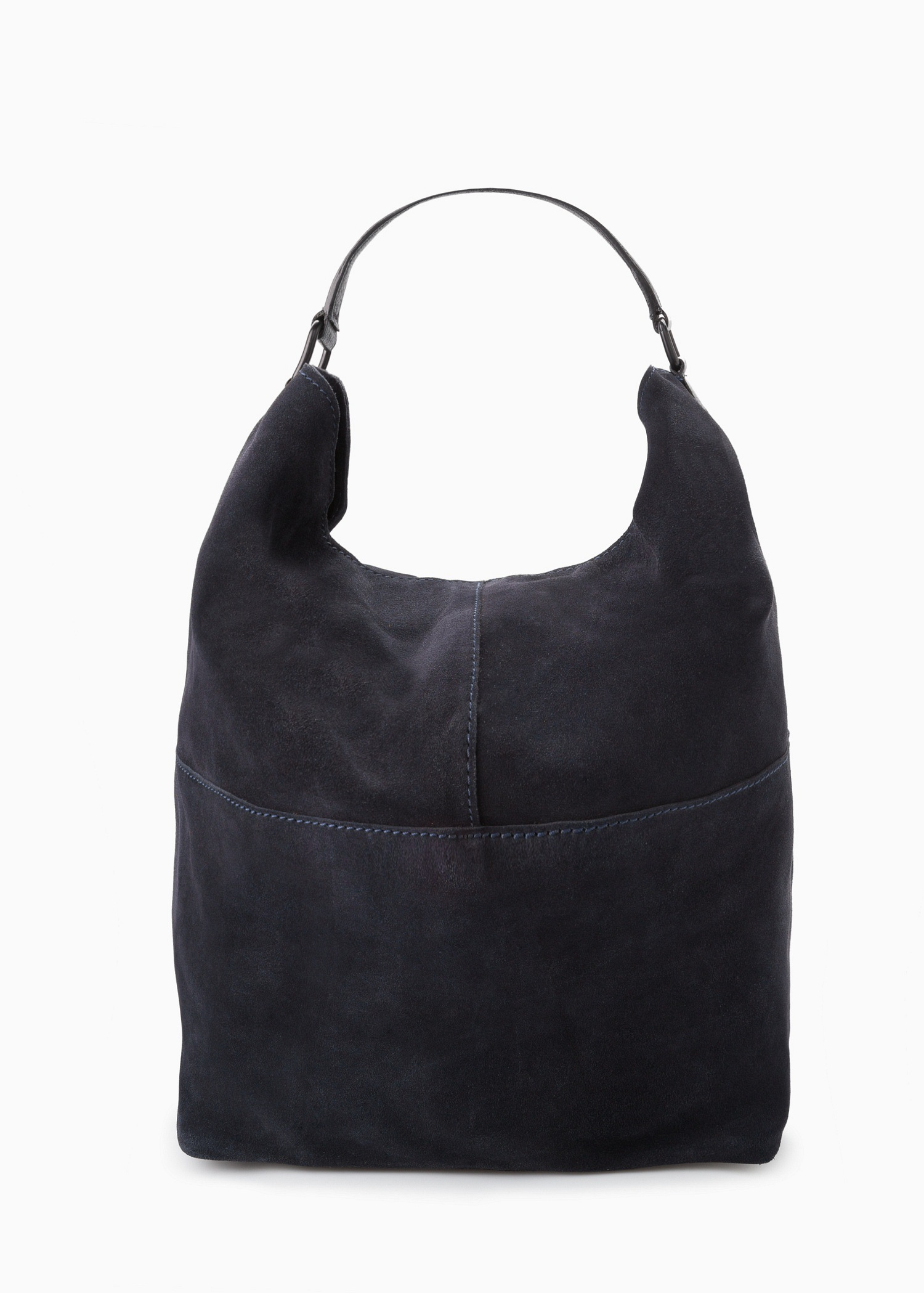 Mango Leather Hobo Bag in Blue | Lyst