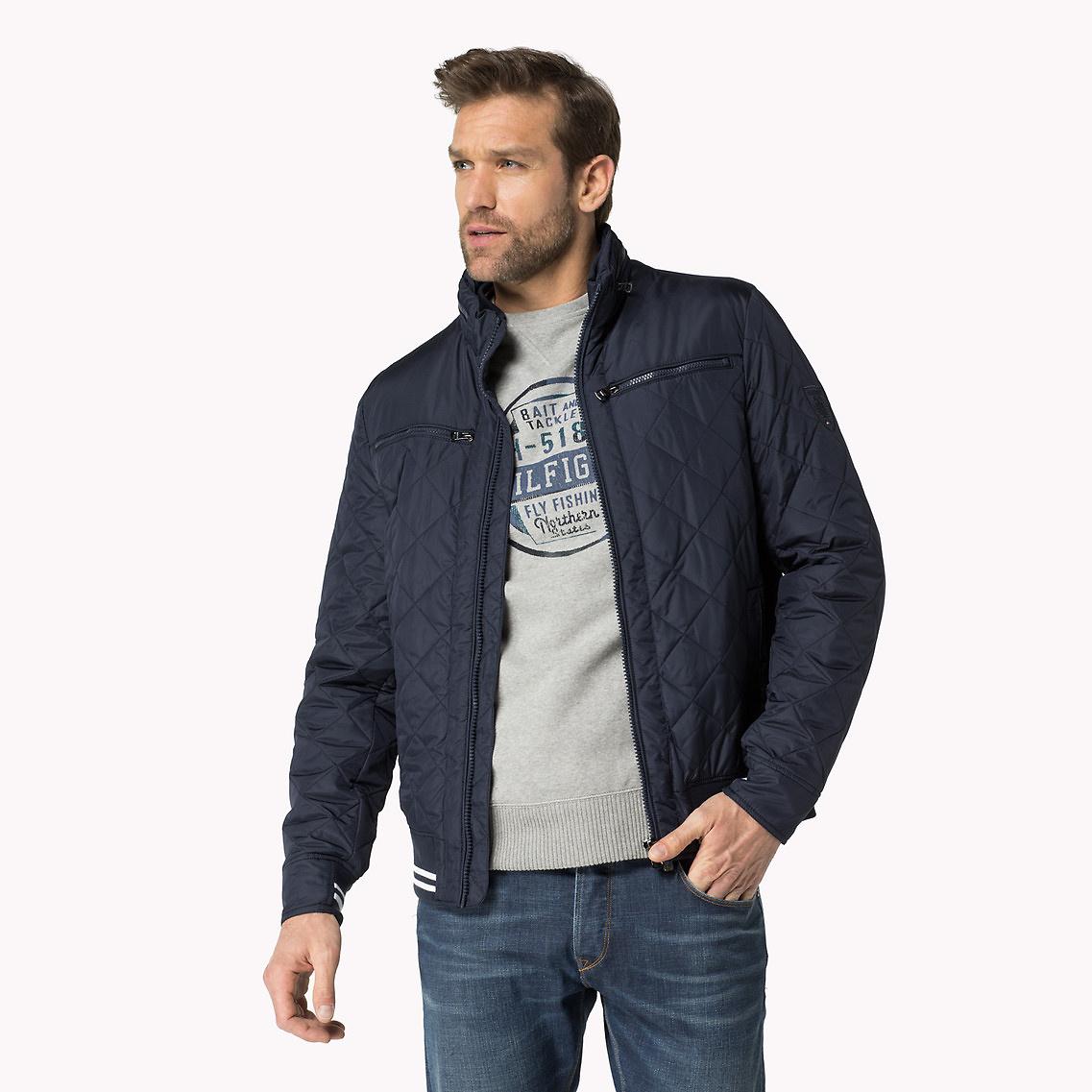 tommy hilfiger big tall bobby bomber jacket in blue for. Black Bedroom Furniture Sets. Home Design Ideas