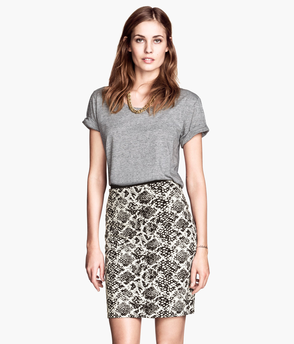 c25caf714 H&M Pencil Skirt in White - Lyst