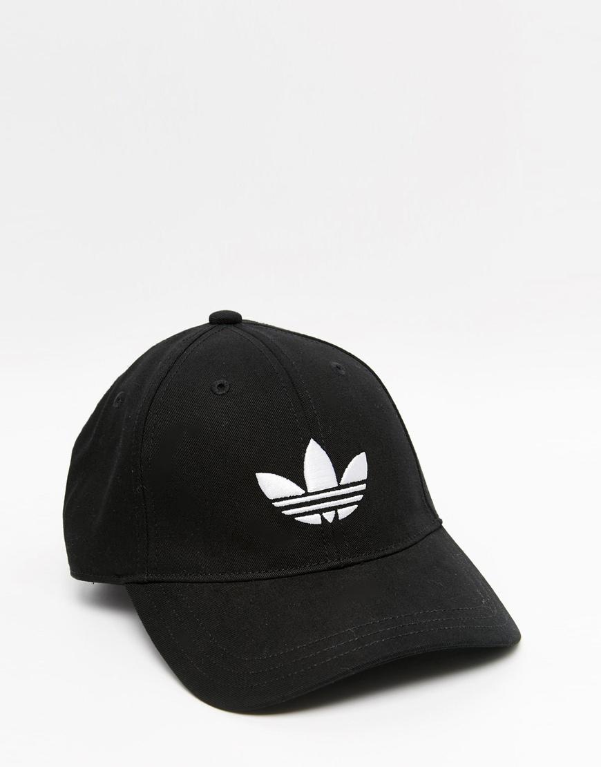 Adidas hombre Originals Trefoil Cap Adidas In Black en negro negro para hombre Lyst ebbf03a - colja.host