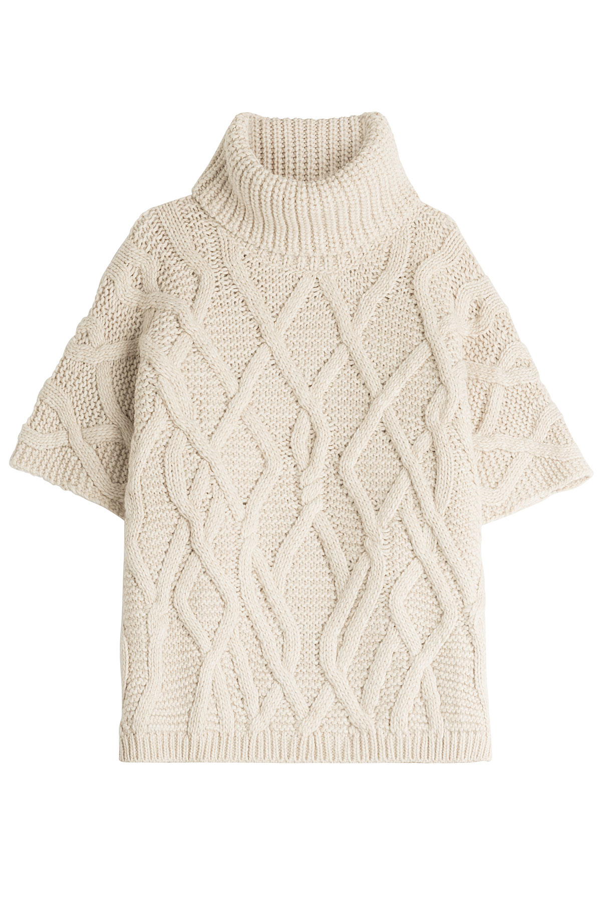 Wool Cape Knitting Pattern : Woolrich Knit Cape With Wool And Alpaca - Beige in White Lyst