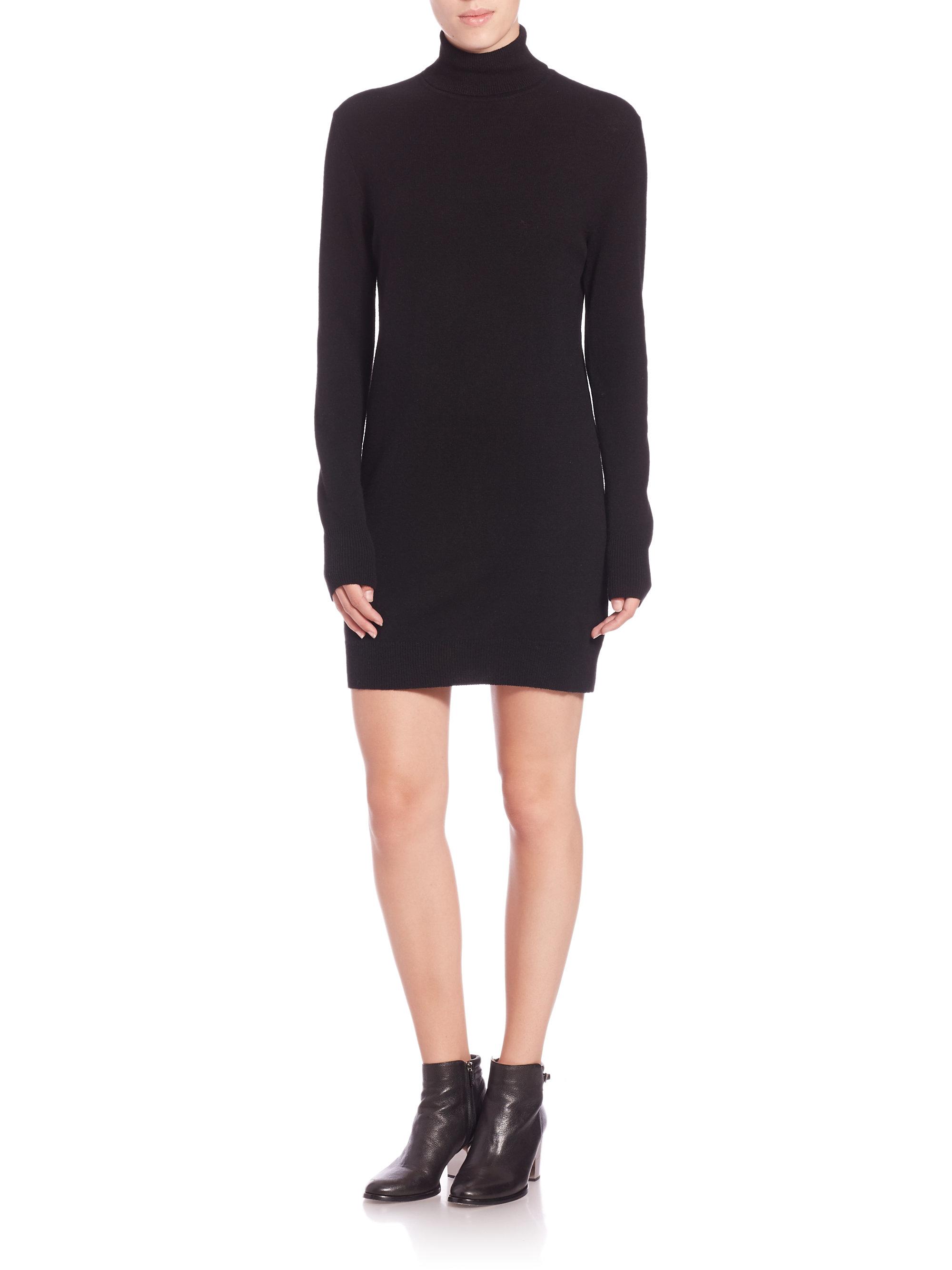 Black Cashmere Sweater Dress - Cashmere Sweater England