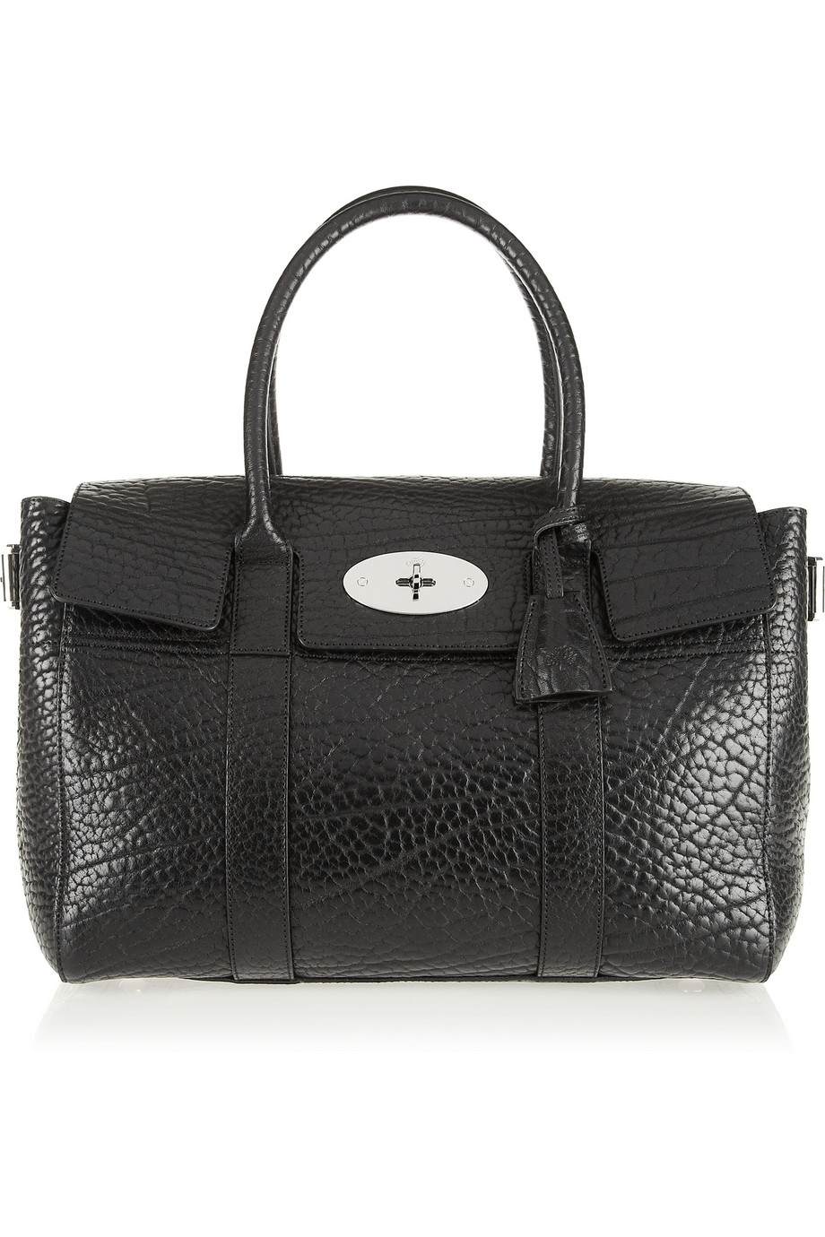 Mulberry the bayswater buckle textured leather tote in for The bayswater