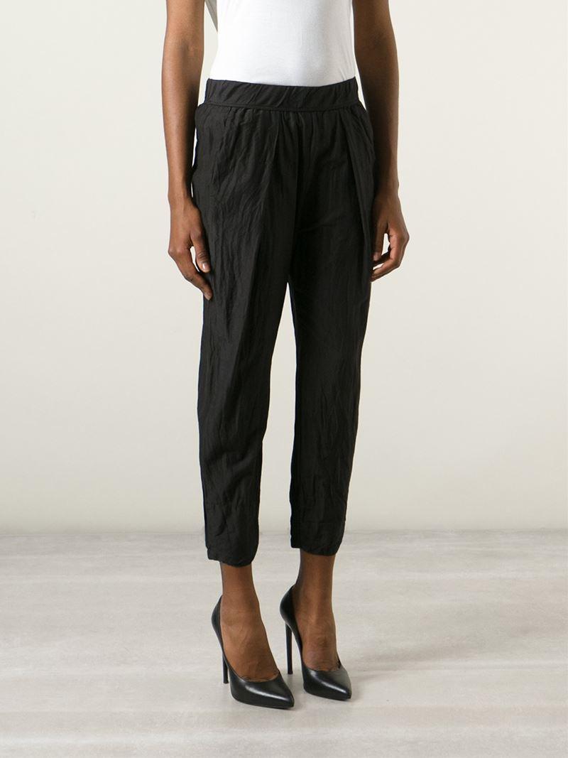 Flared cropped trousers Raquel Allegra GWQrZCdbdd