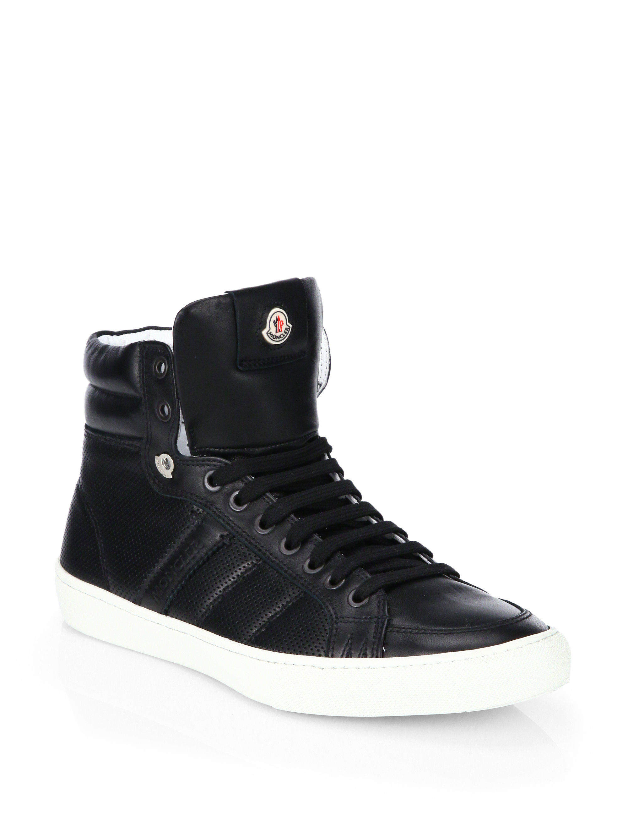 moncler lyon high top sneakers in black for men lyst