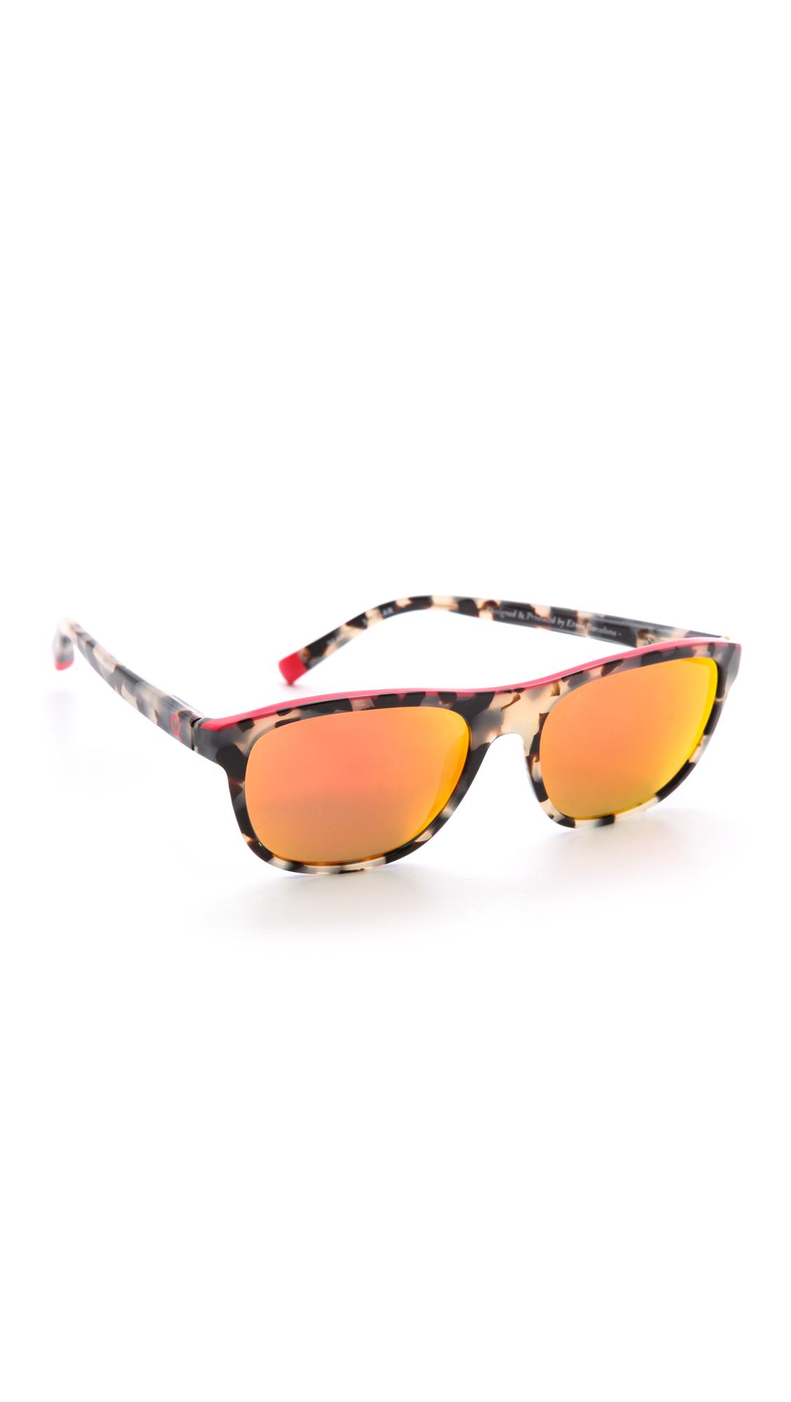 Etnia Barcelona Africa 02 Mirrored Sunglasses Havana Red
