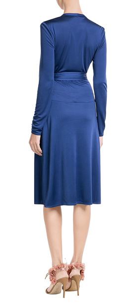 Issa Silk Jersey Wrap Dress Blue In Blue Lyst