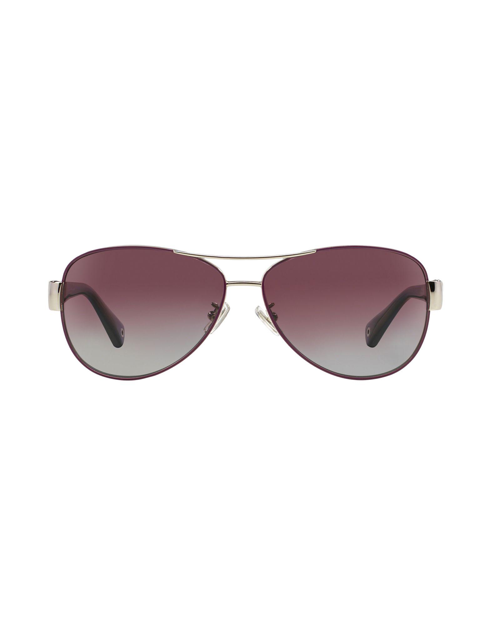 abe58fa63104 ... ireland lyst coach kristina aviator sunglasses in purple 3d973 f1d7a
