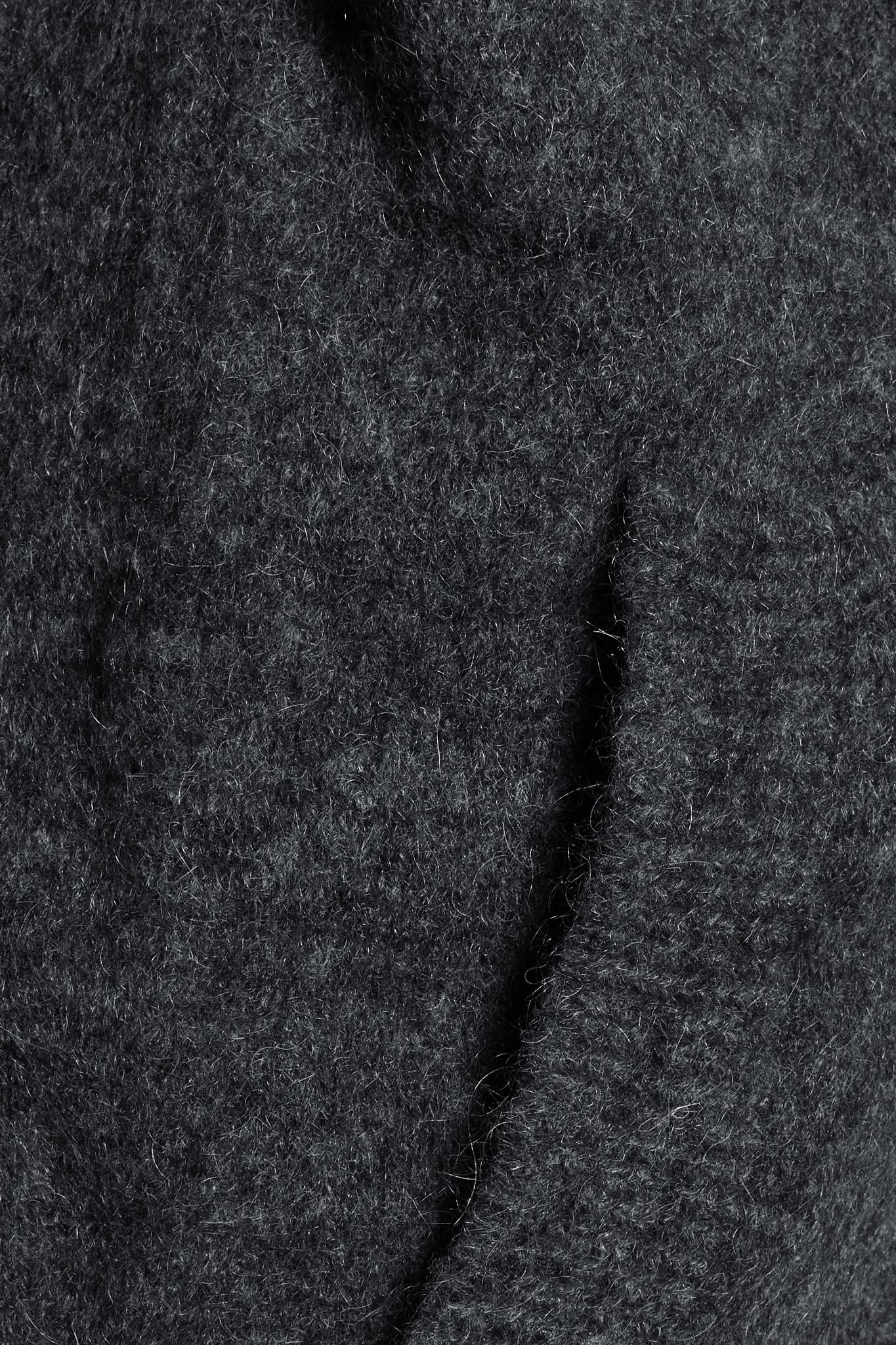 Iris & Ink Lisette Wool Cardigan in Dark Gray (Blue)