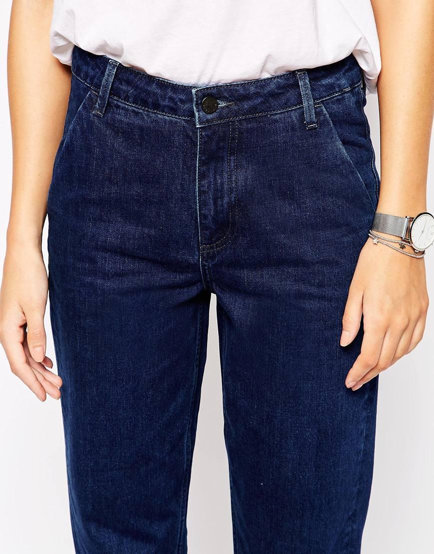 bethnals murphy tapered straight leg boyfriend jeans blue in blue lyst. Black Bedroom Furniture Sets. Home Design Ideas