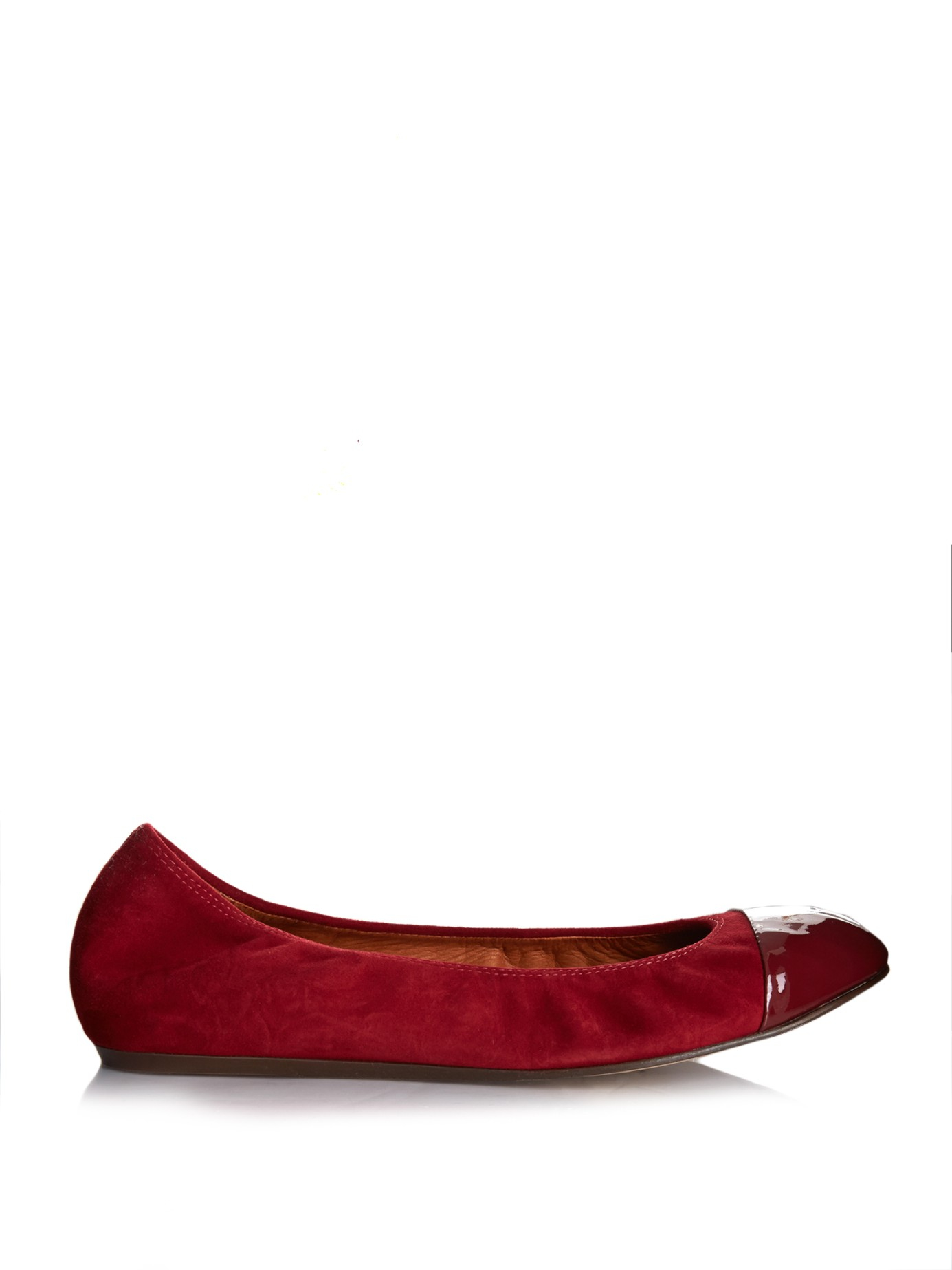 Best Seller Cheap Online Lanvin Ballerinas suede leather Clearance Online Fake q7Oh0uF