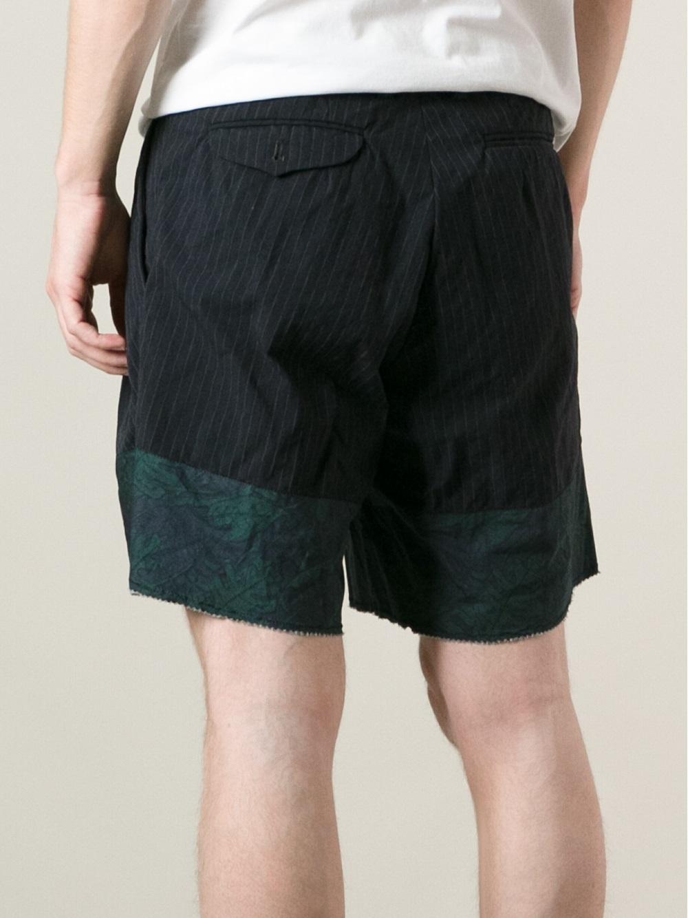 Kolor Pinstripe Shorts In Black For Men  Lyst-9695
