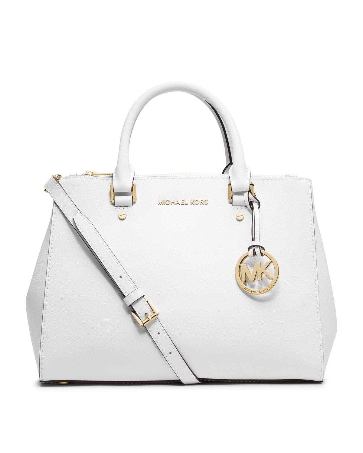 Lyst Michael Kors Sutton Saffiano Leather Tote In White