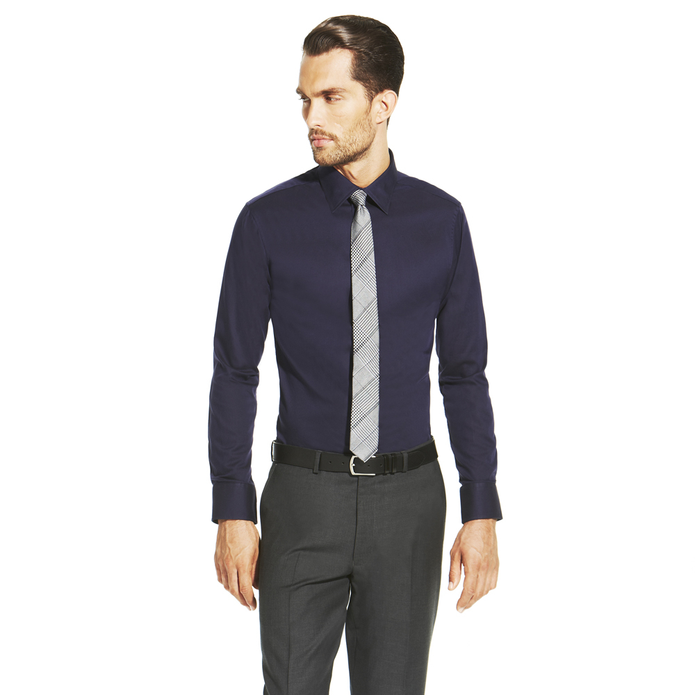 Vince Camuto Button Down Dress Shirt In Blue For Men Navy