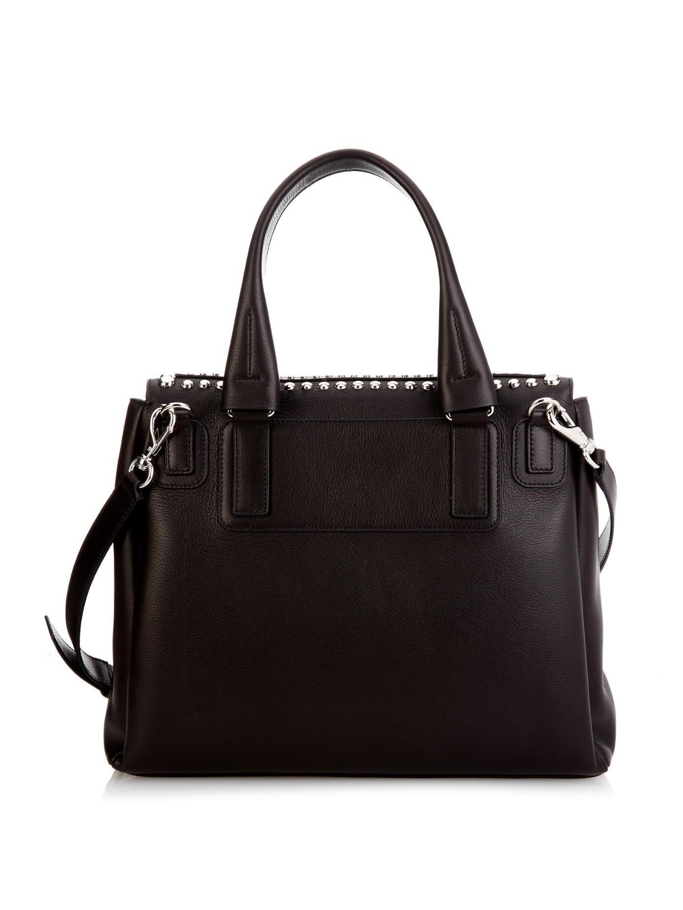 Givenchy Pandora Pure Medium Leather Bag in Black