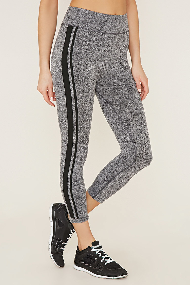 Forever 21 Synthetic Active Seamless Capri Leggings In
