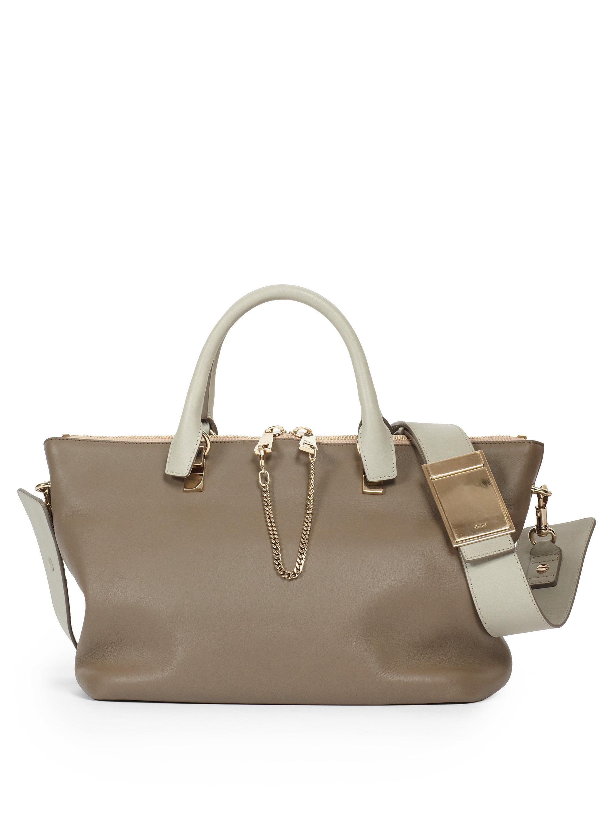 Chlo¨¦ Baylee Medium Shoulder Bag in Gray (PEARL GREY) | Lyst