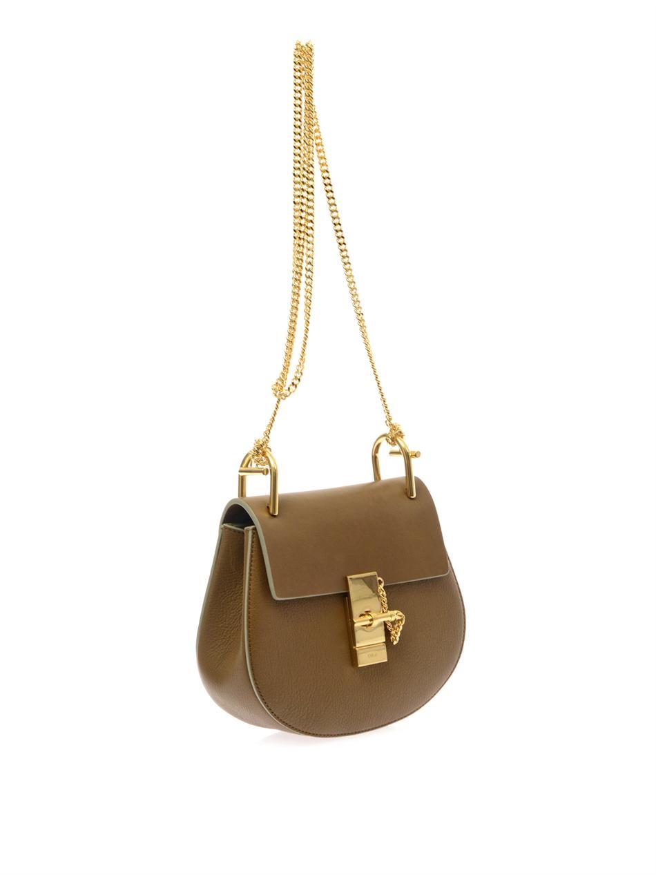 chlo drew leather shoulder bag in brown lyst. Black Bedroom Furniture Sets. Home Design Ideas