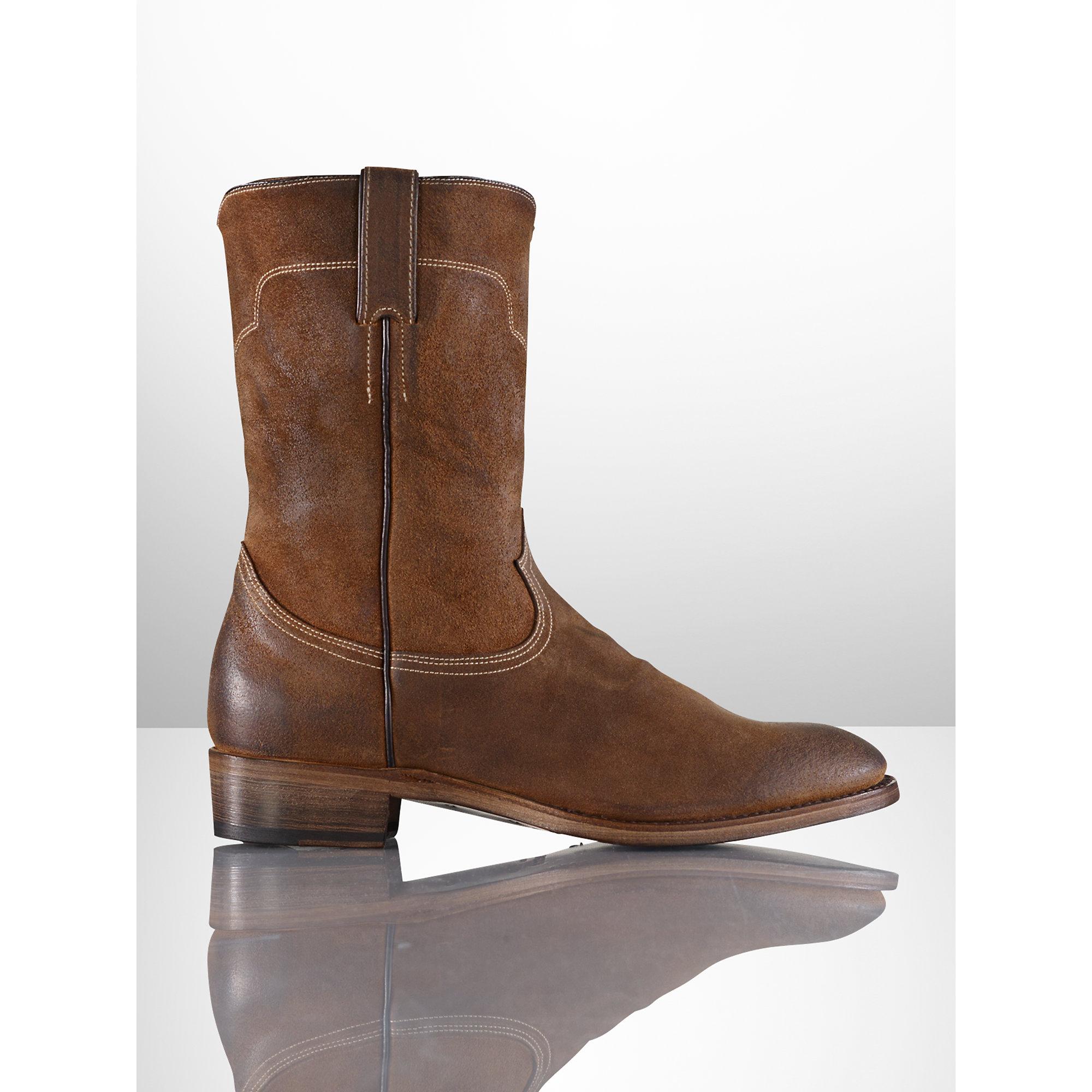 53a16bdd53d Ralph Lauren Brown Ackley Oiled Suede Boot for men