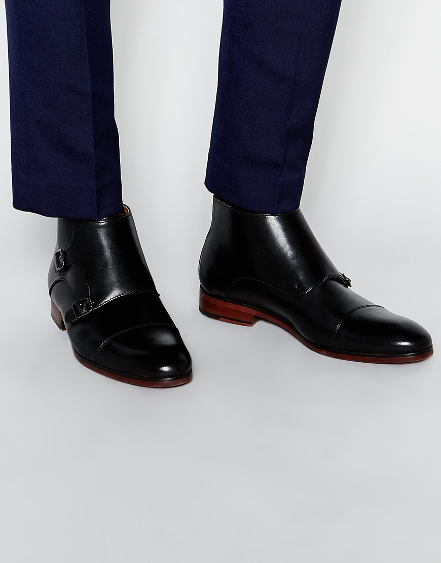 aldo godefroid monk boots in black for lyst