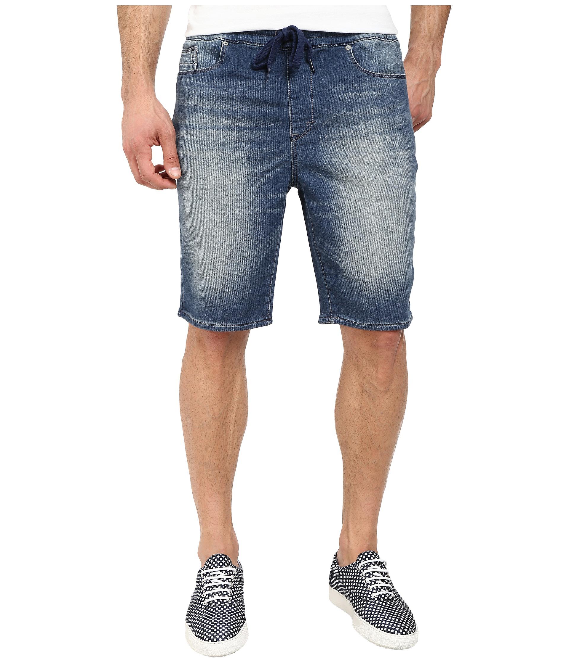 Dkny Knit Jogger Shorts - Stamina Medium Blue Wash In Medium ...