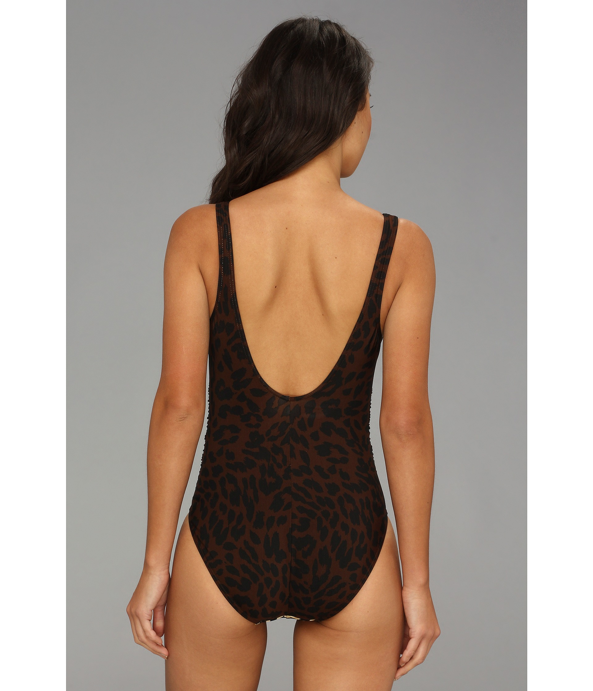 f399869563 Miraclesuit Skin City Sonatina Tank Onepiece in Brown - Lyst