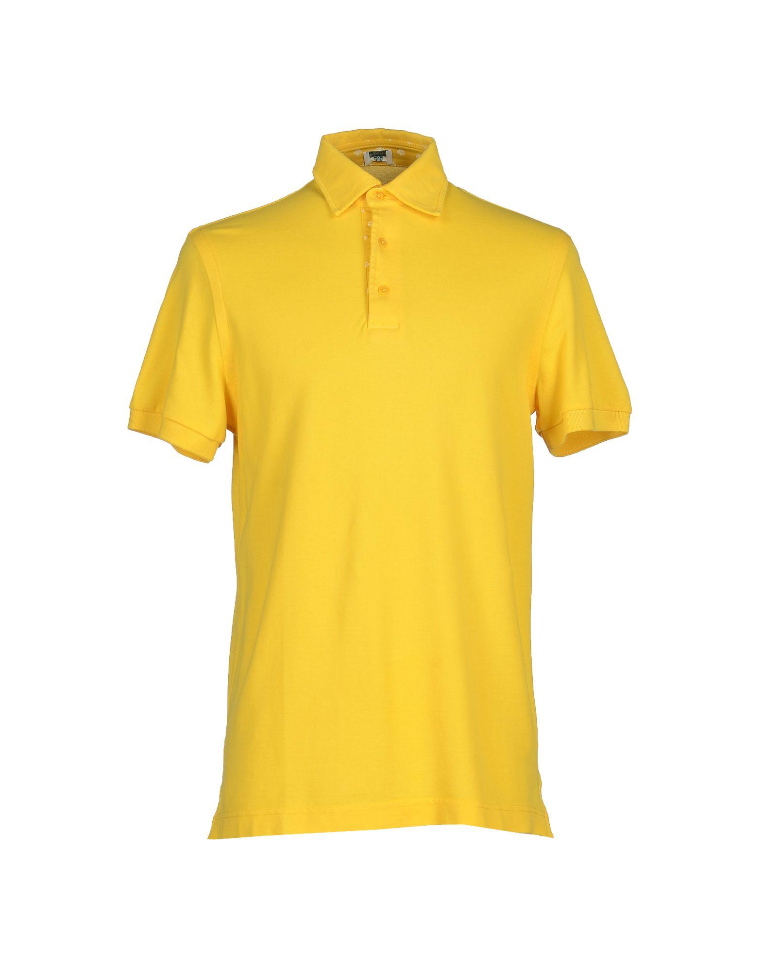 Luigi Borrelli Napoli Polo Shirt In Yellow For Men Lyst