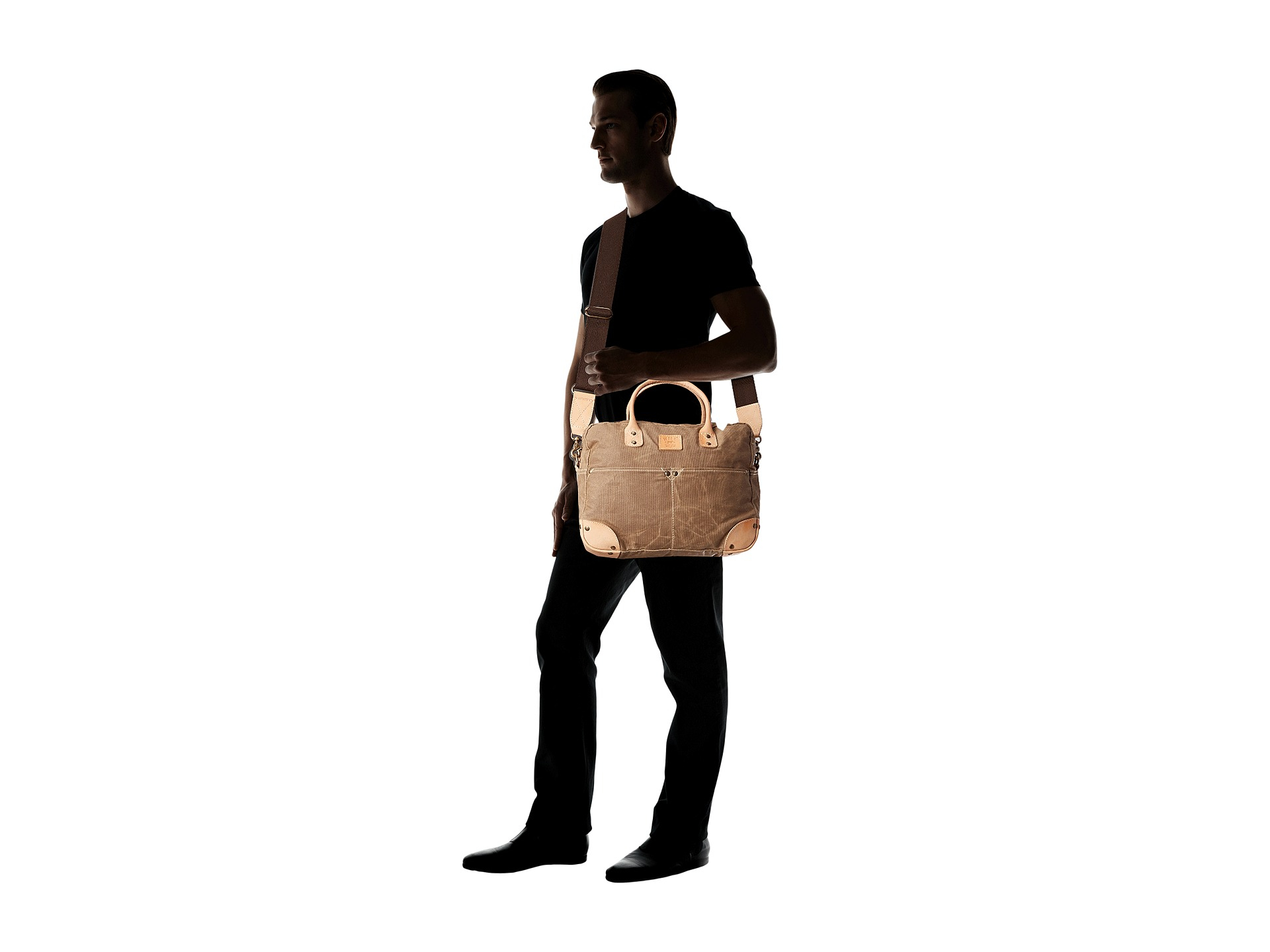 0d40d37790 Lyst - Will Leather Goods Wax Canvas Flight Bag in Natural for Men