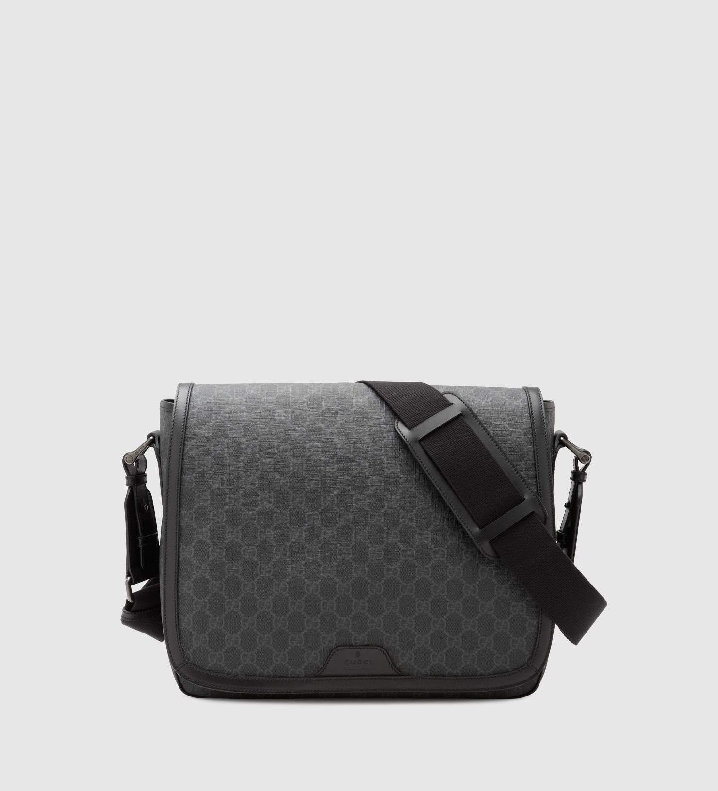 645a823f9f8a1 Gucci Gg Supreme Canvas Messenger Bag in Gray for Men - Lyst