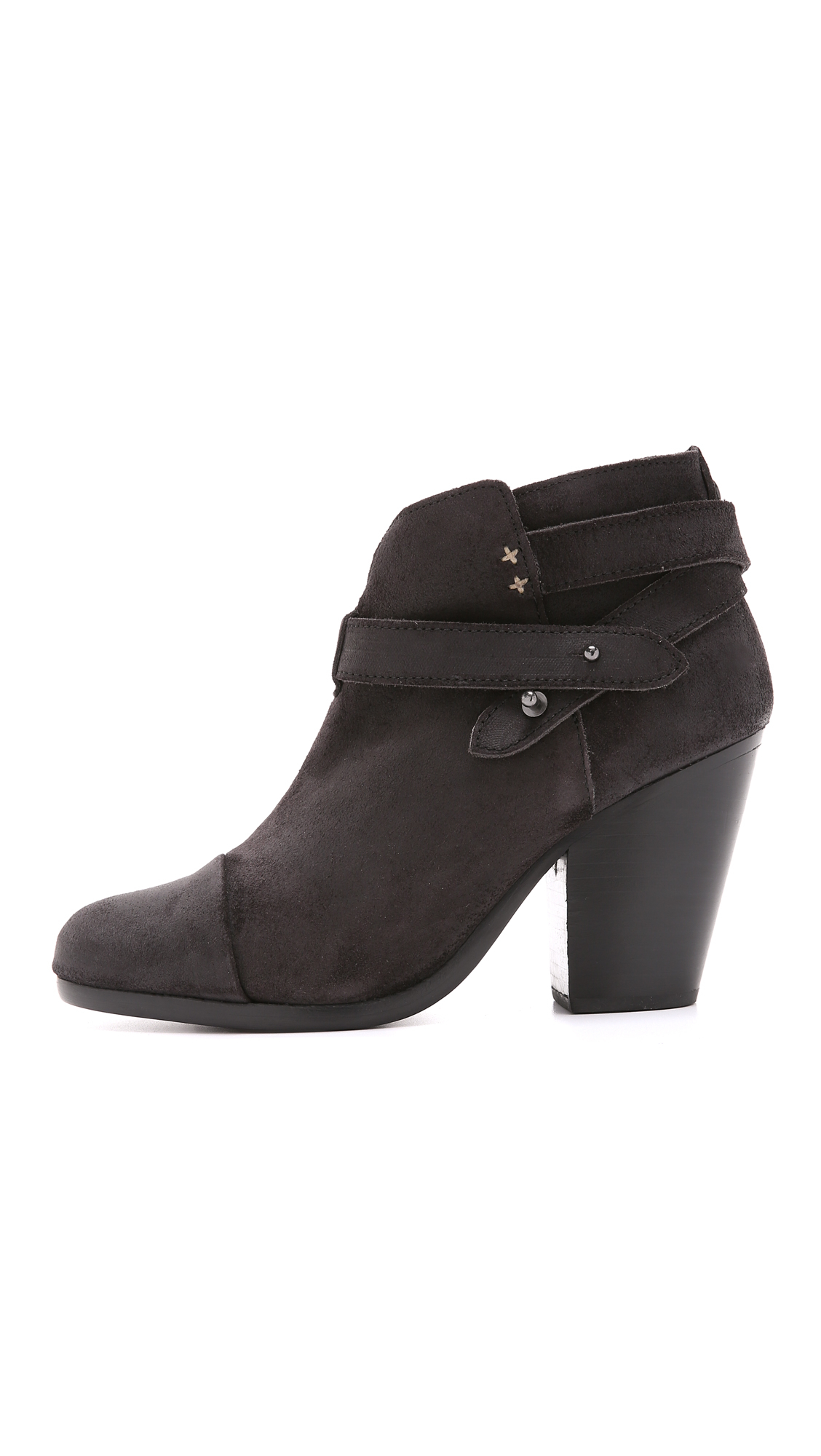 Rag Amp Bone Harrow Suede Booties Stone In Black Lyst