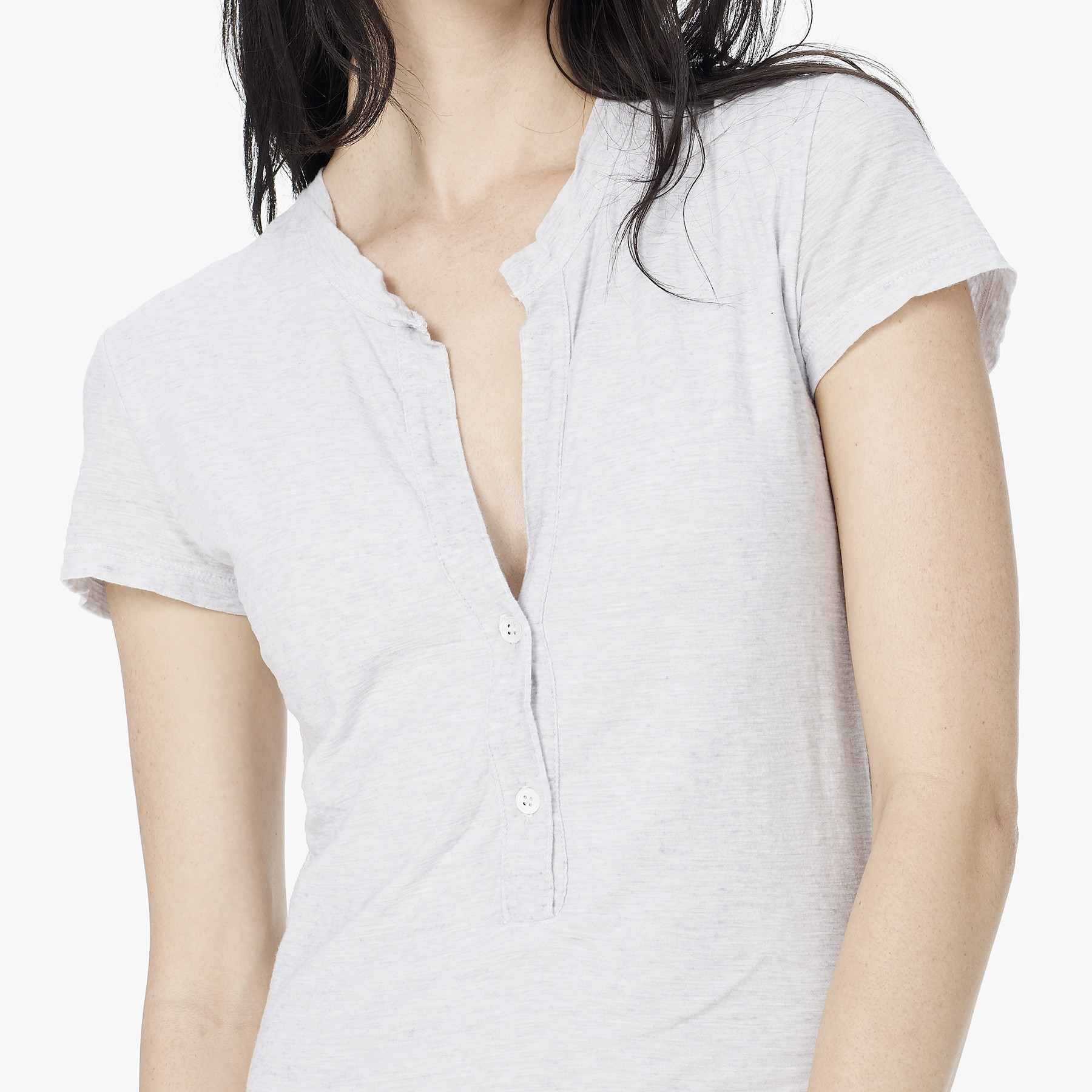 Lyst james perse cationic dyed henley dress in gray for James perse henley shirt