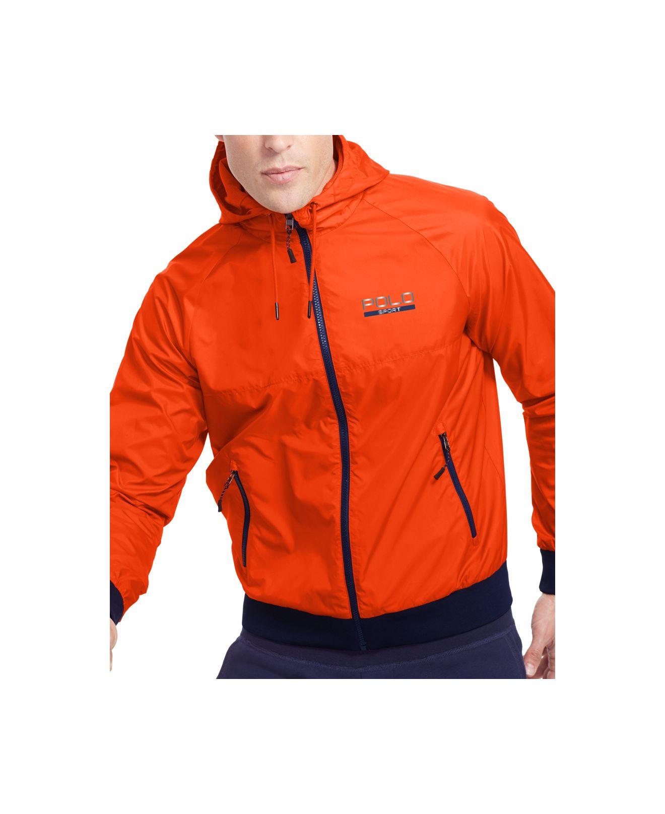 47158bde Polo Ralph Lauren Orange Polo Sport Solid Full-zip Windbreaker for men