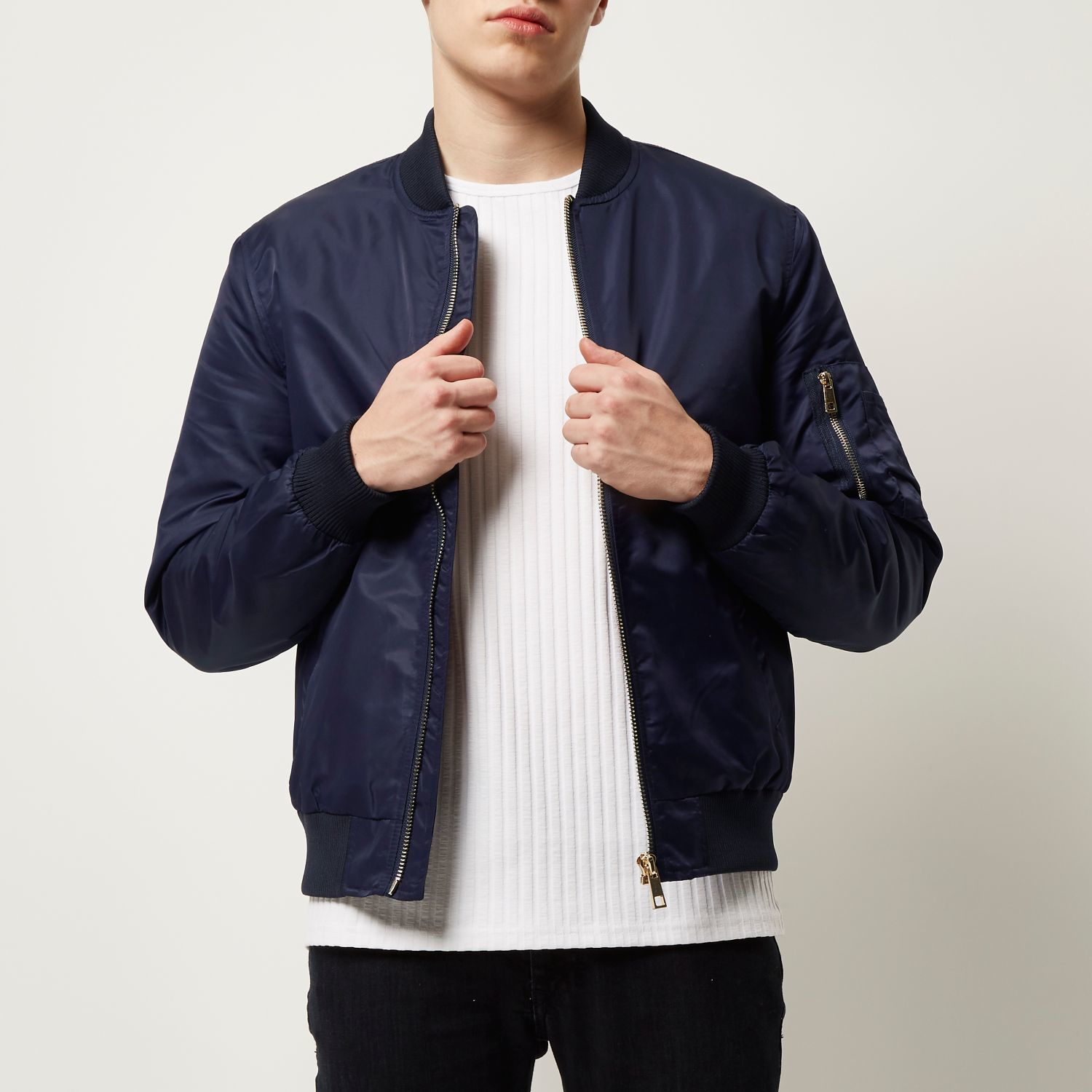 Footaction For Sale Mens Franklin and Marshall Navy lightweight jacket River Island Buy Cheap Find Great Geniue Stockist Online Cheap Usa Stockist a4t3ySpo