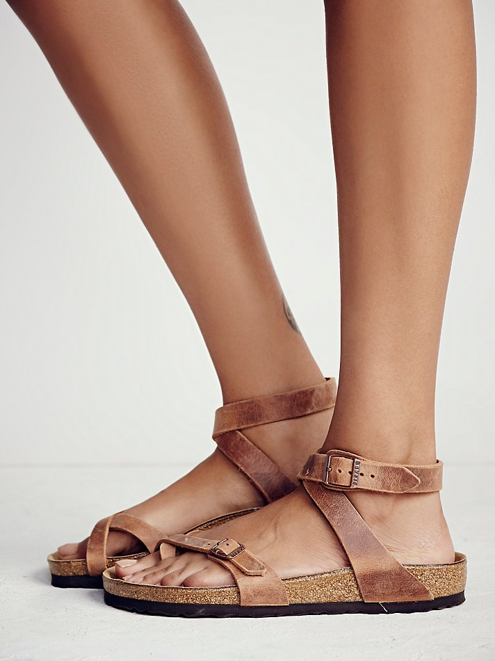 Free People Yara Birkenstock In Brown Lyst