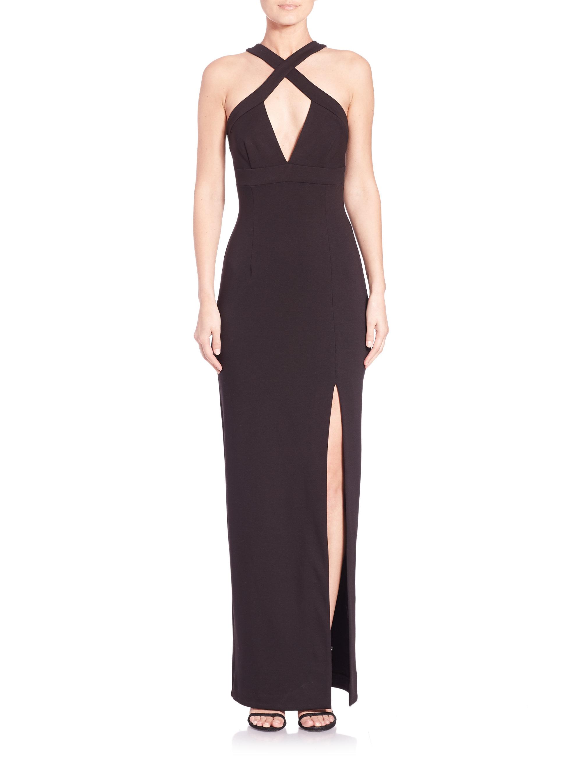 Black diamond cut out dress