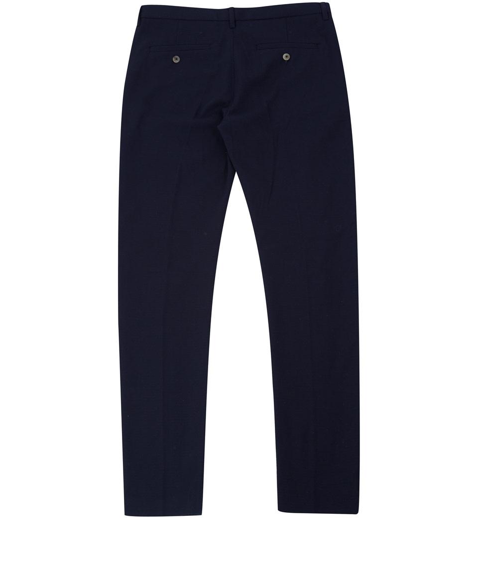 Folk Navy Vincent Woolblend Trousers in Blue for Men
