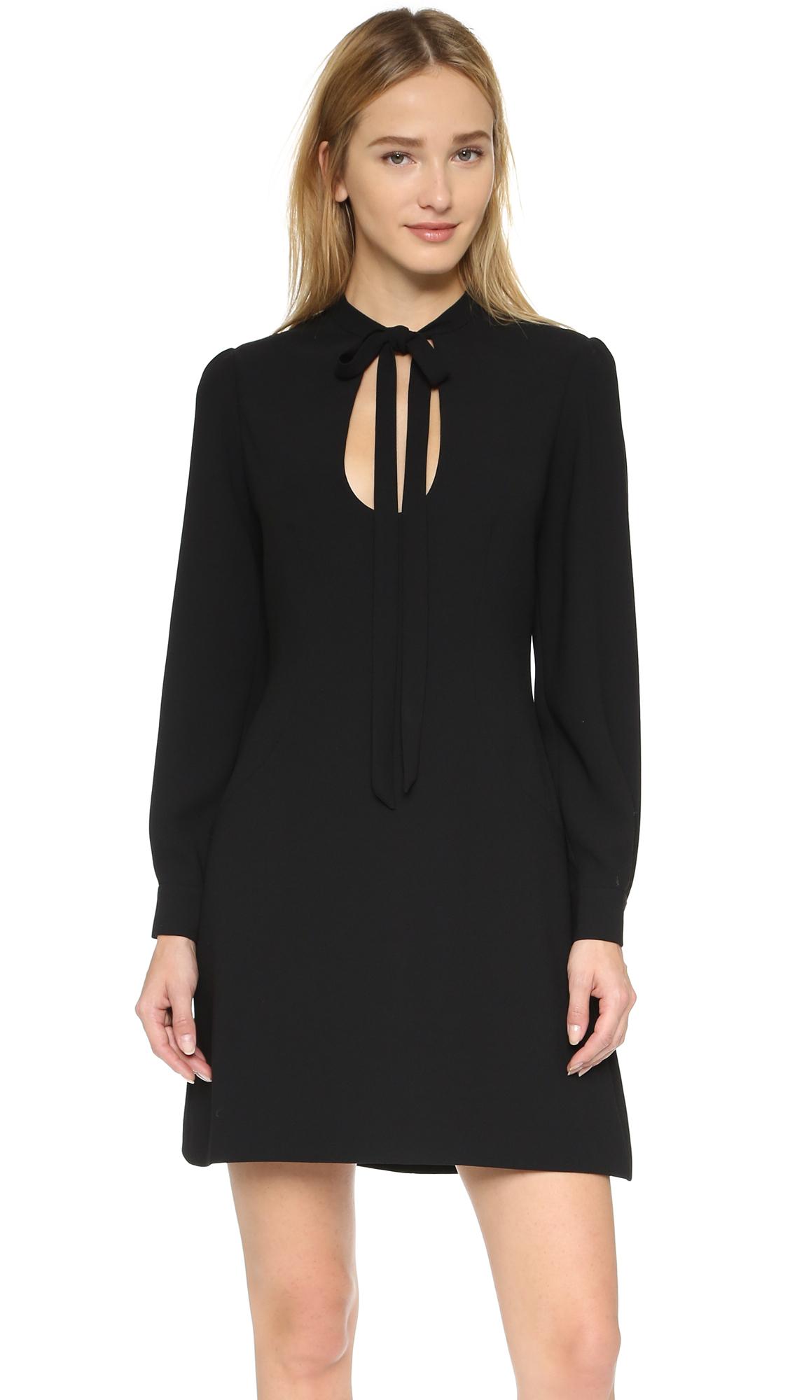904682230c3 Lyst - JILL Jill Stuart Tie Neck Long Sleeve Dress in Black