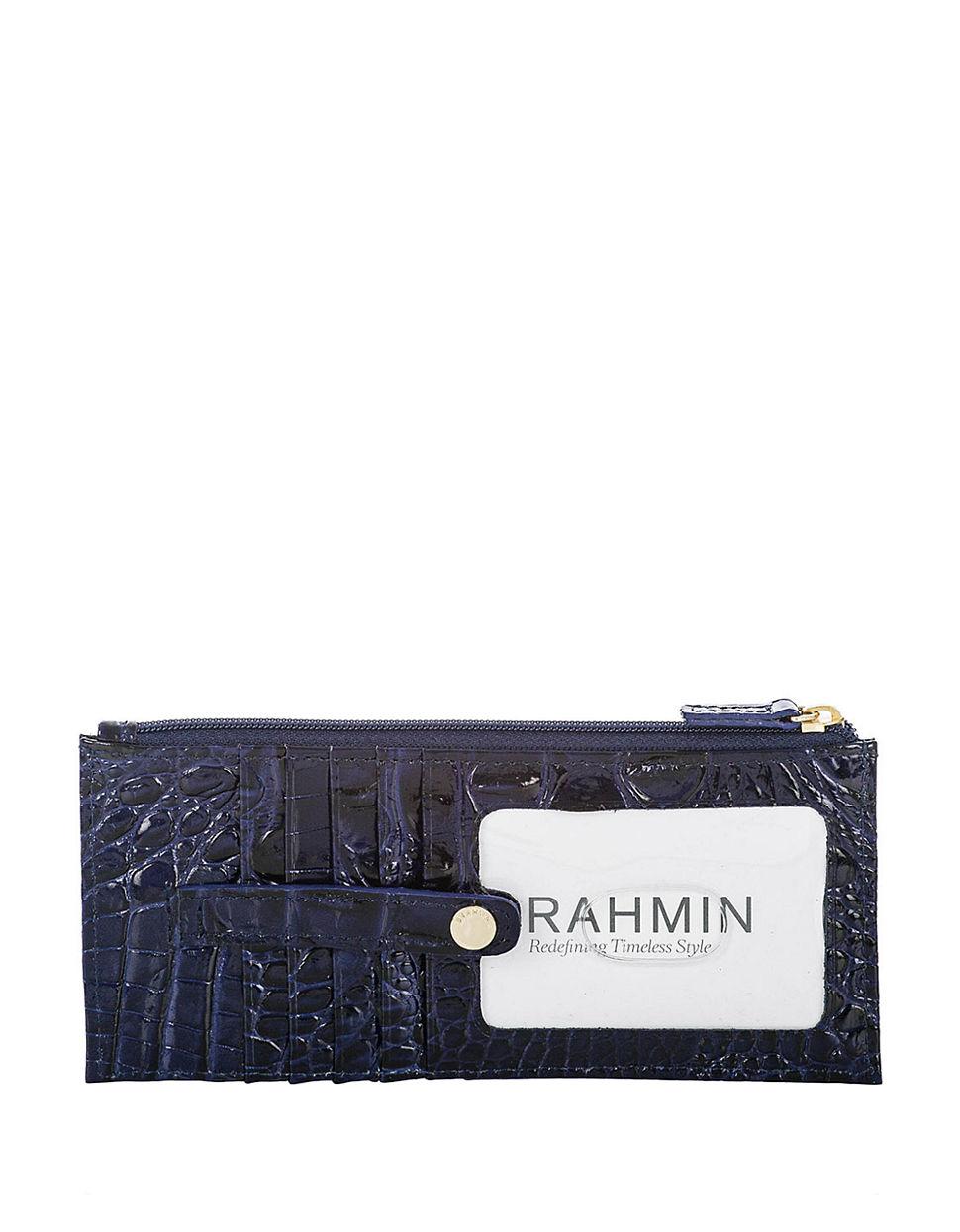 Lyst Brahmin Melbourne Leather Credit Card Wallet In Blue