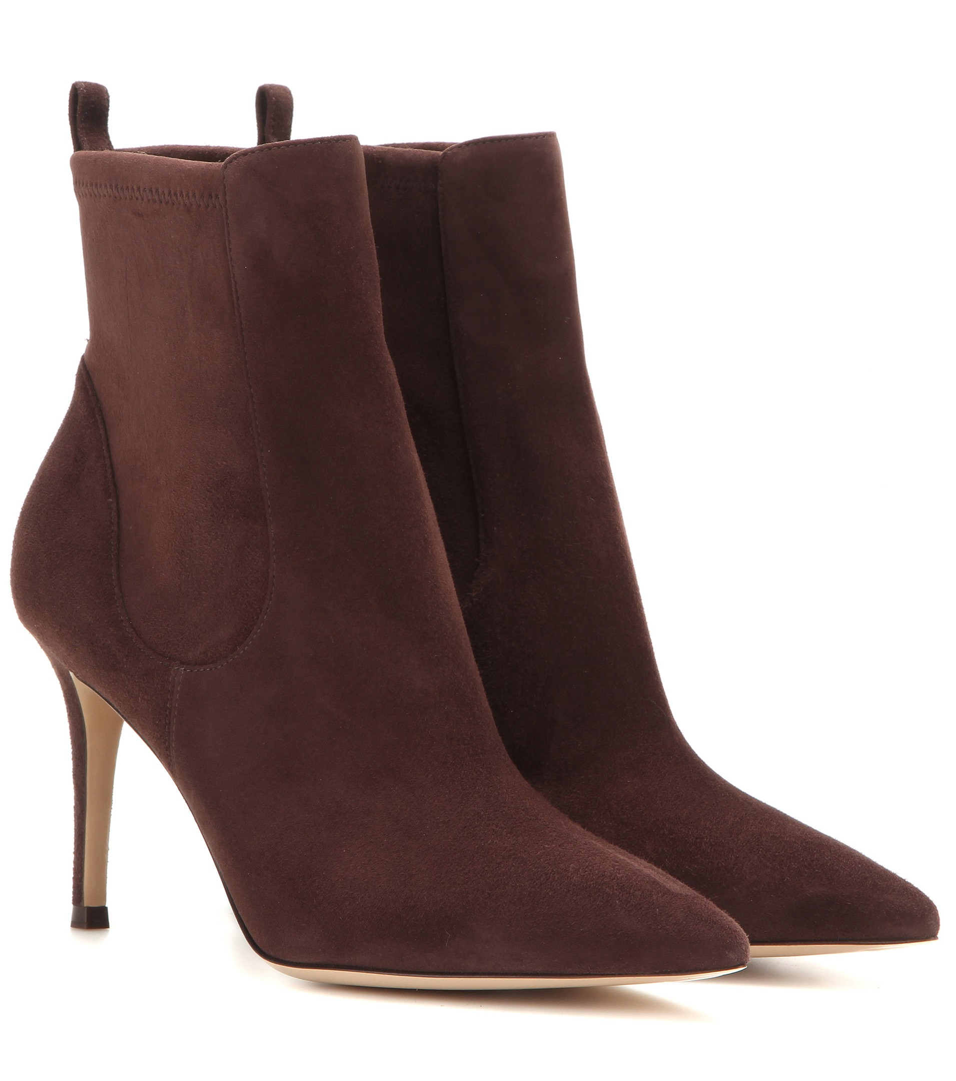 lyst gianvito rossi bennett suede ankle boots in red. Black Bedroom Furniture Sets. Home Design Ideas