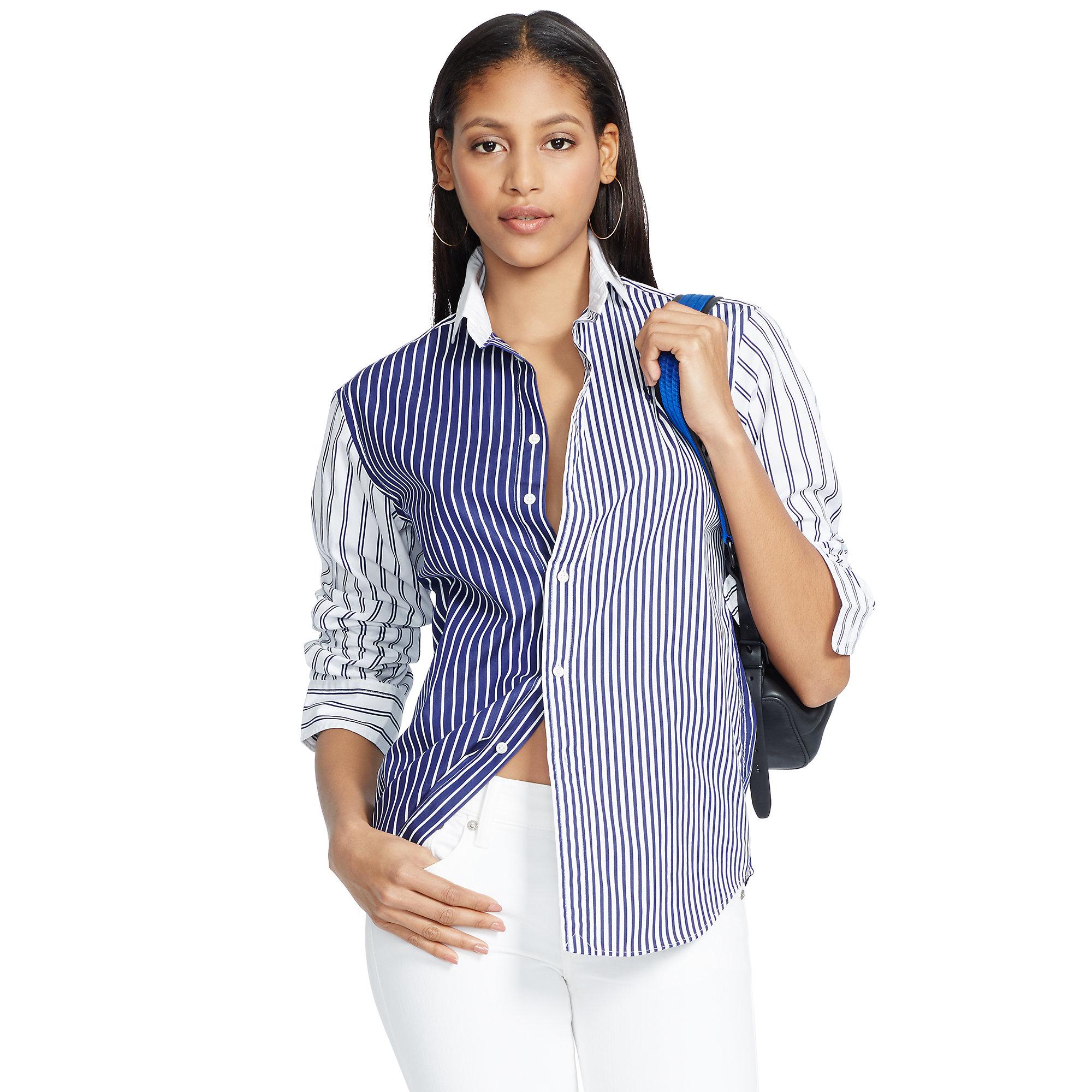 Ralph Lauren Loose-fit striped shirt iBb5P