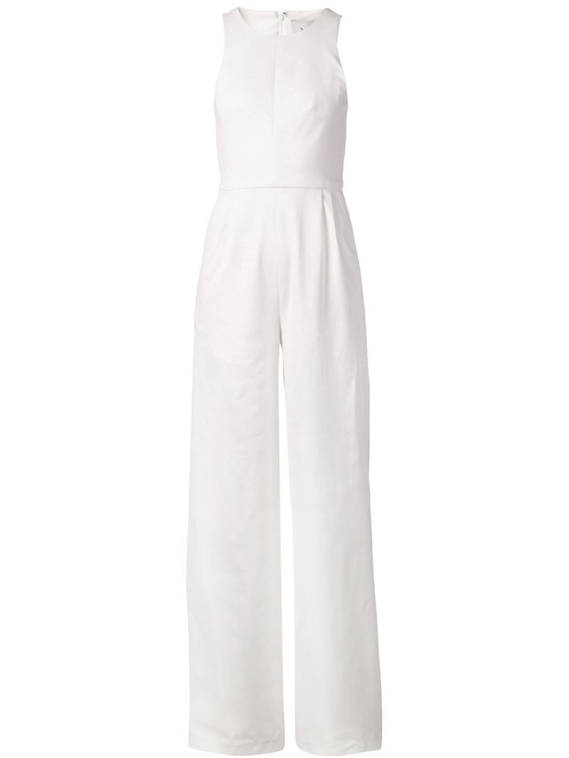 Novis Wide Leg Jumpsuit in White | Lyst