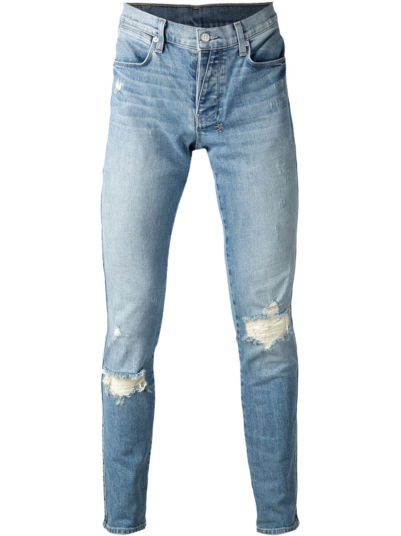latest selection of 2019 best deals on special section Ksubi Distressed Skinny Jeans in Blue for Men - Lyst