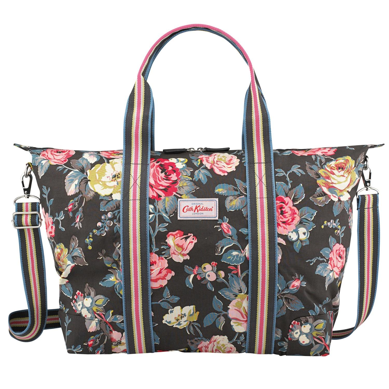Cath kidston Garden Rose Foldaway Beach Bag in Gray | Lyst