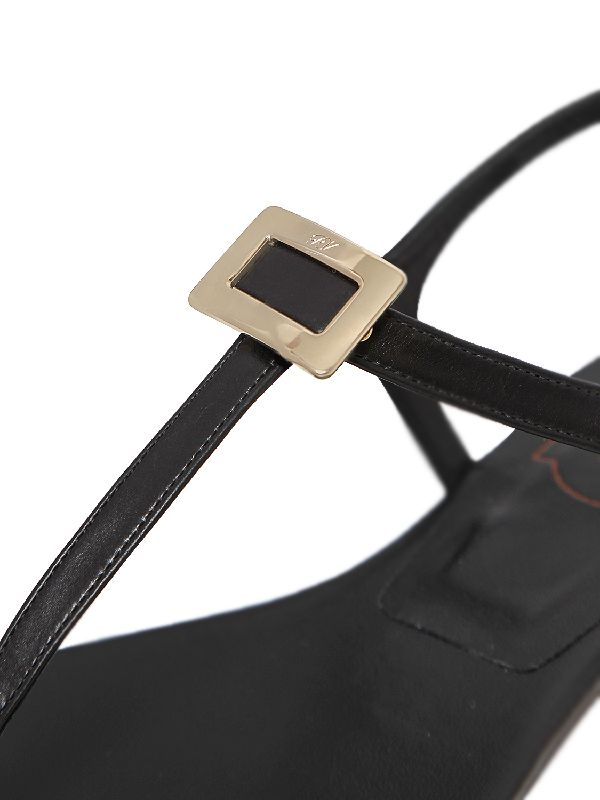 Roger Vivier 10MM MINI DIADEM LEATHER THONG SANDALS
