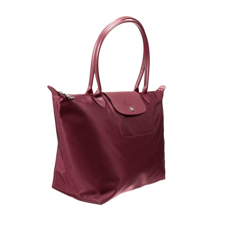 longchamp handbag le pliage neo shopping in purple. Black Bedroom Furniture Sets. Home Design Ideas